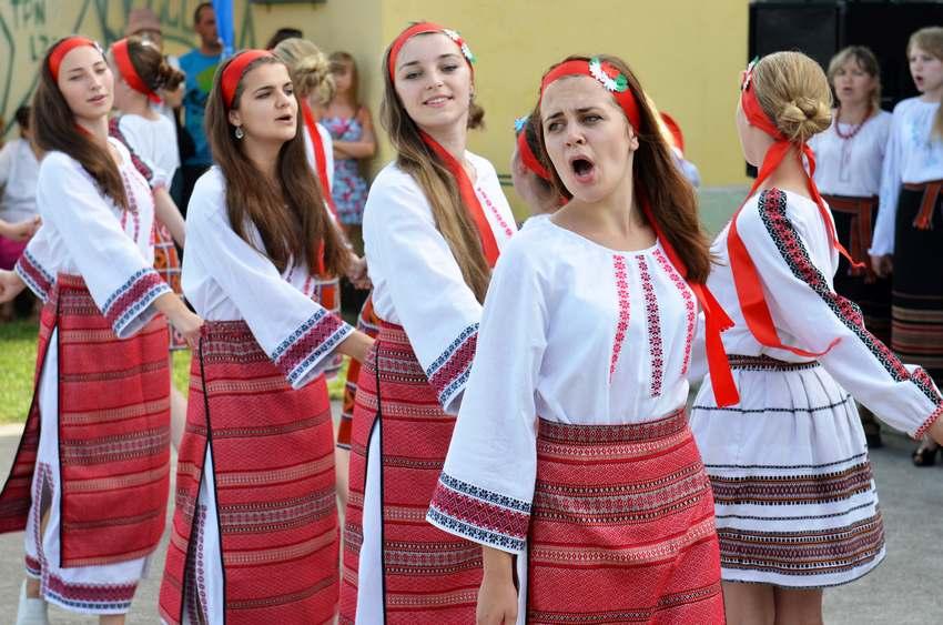 Goście z Ukrainy na Lipcówce w Krzelowie