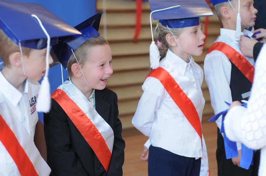 Pasowanie w szkole w Orzeszkowie