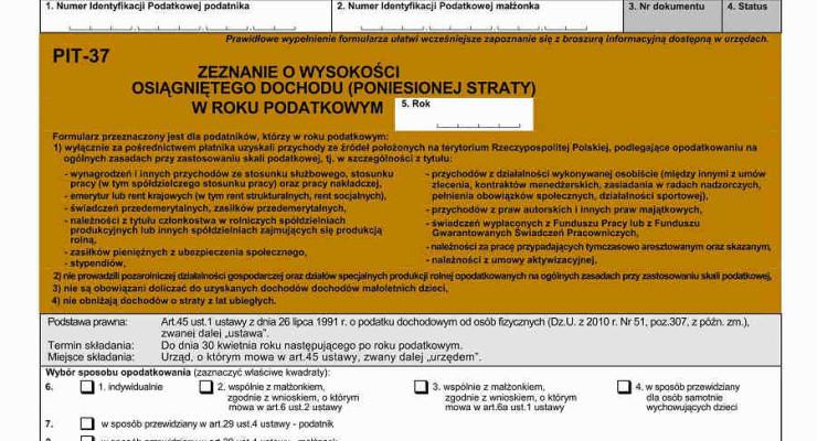 Złóż PIT za 2012