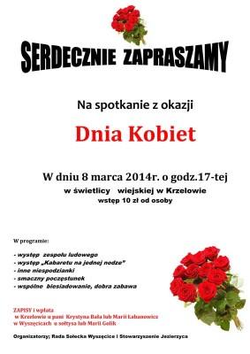 Zaproszenie do Krzelowa na Dzień Kobiet