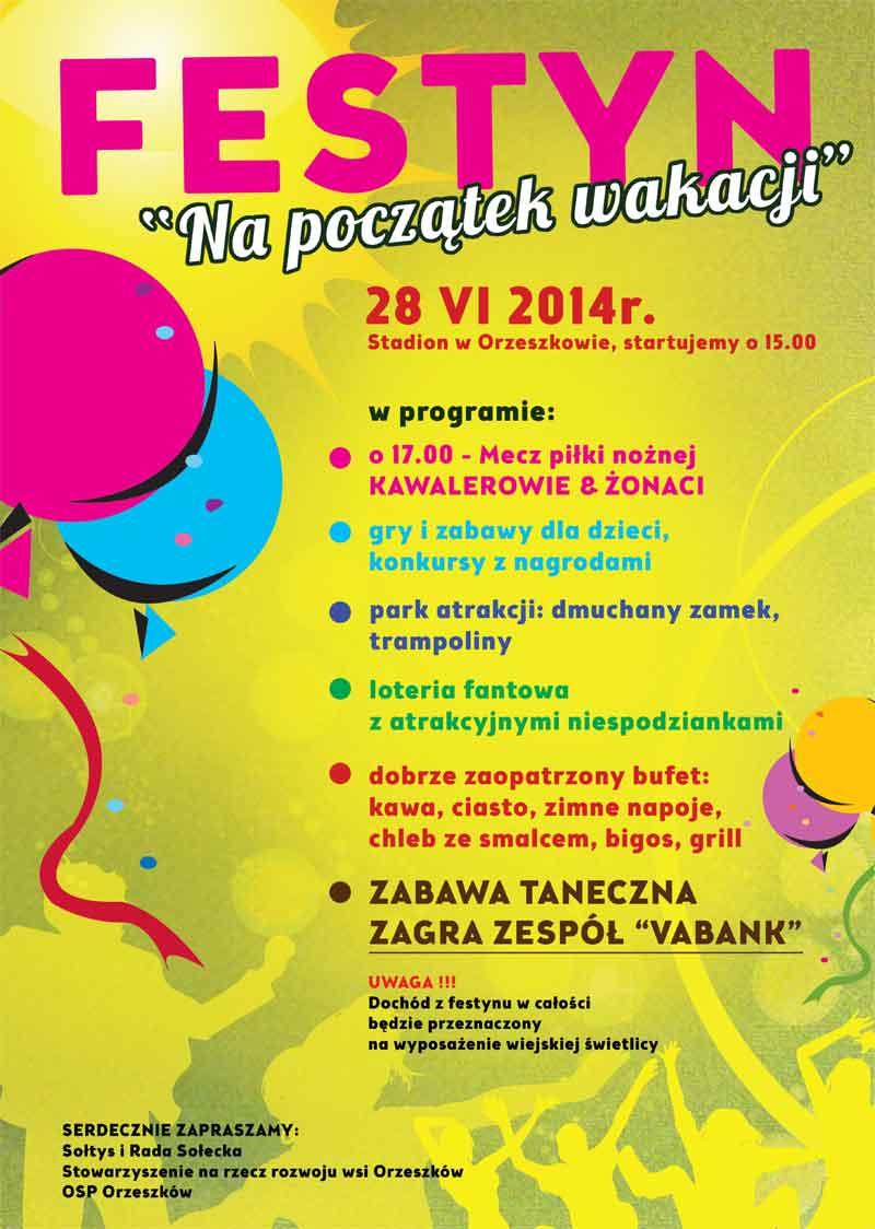 Festyn na Początek Wakacji. Orzeszków 2014