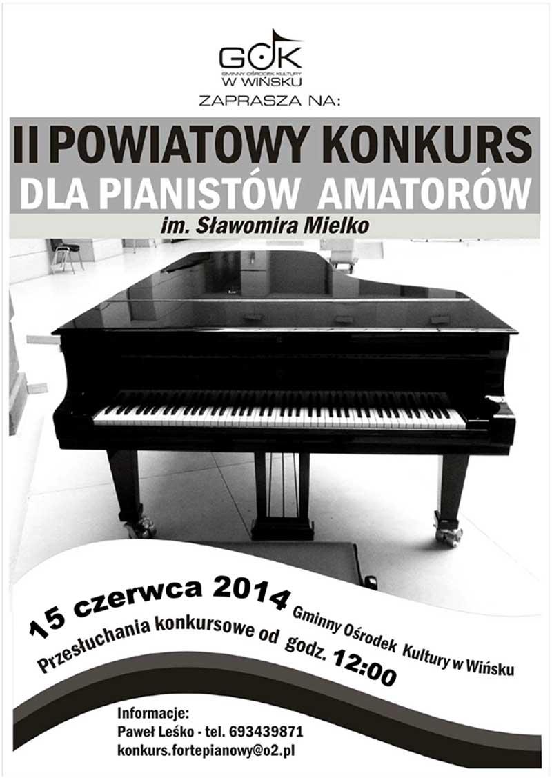 II Powiatowy Konkurs Dla Pianistów Amatorów. Wińsko 2014
