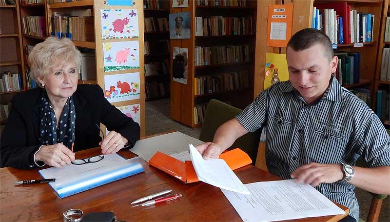 Komisja Wyborcza w czasie wyborów do Młodzieżowej Rady Gminy Wińsko