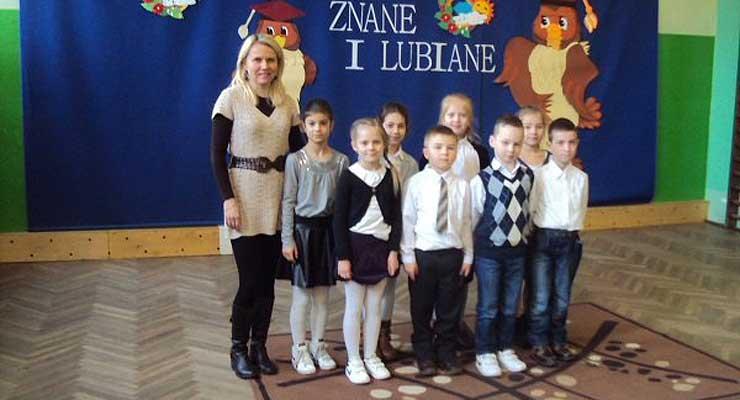 Uczniowie ze szkoły w Orzeszkowie