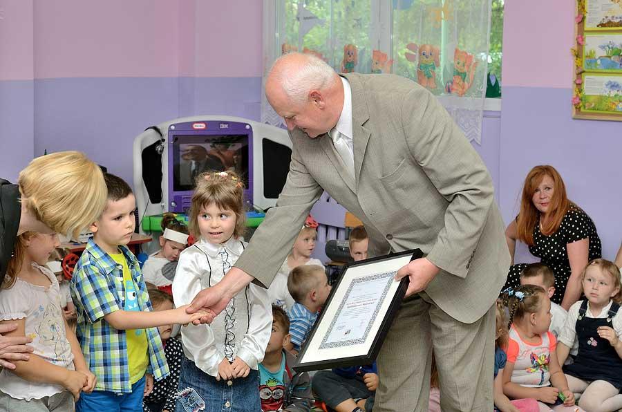 Jerzy Więcławski w przedszkolu w Wińsku