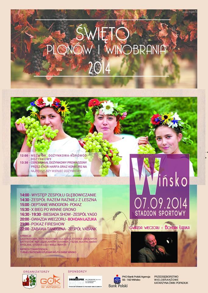 Święto Plonów i Winobrania. Wińsko 2014