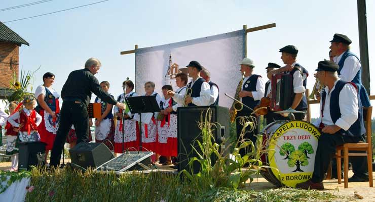 Kapela Ludowa Trzy Dęby z Borówka w Głębowicach
