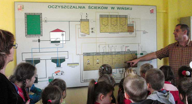 W oczyszczalni ścieków w Wińsku