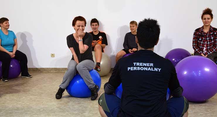 Ćwiczenia z piłkami w Orzeszkowie