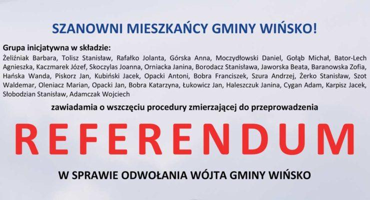 Wszczęcie procedury referendum