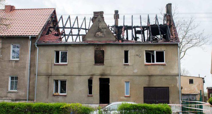 Spłonął dom w Wińsku
